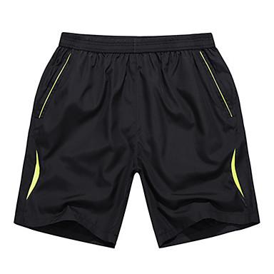 Homens Shorts de Corrida - Amarelo, Verde Esportes Shorts Exercício e Atividade Física, Corrida Casual Simples