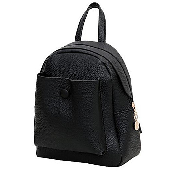 Women's Bags PU Backpack for Casual All Seasons Black Red Gray