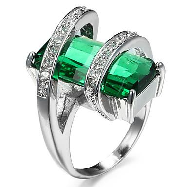Women's Adorable Luxury / Hypoallergenic Cubic Zirconia / Rhinestone Ring Settings / Band Ring / Ring - Geometric Personalized / Luxury /