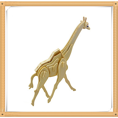 3D Puzzles Jigsaw Puzzle Wood Model Model Building Kit Deer Animal 3D Animals DIY Wooden Wood Kid's Gift