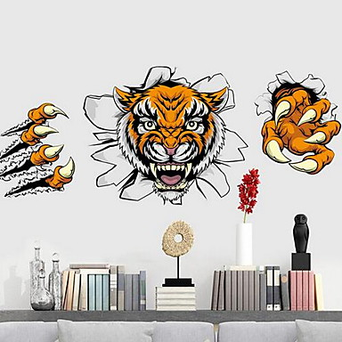 Animal Wall Stickers 3D Wall Stickers Decorative Wall Stickers,Plastic Material Home Decoration Wall Decal