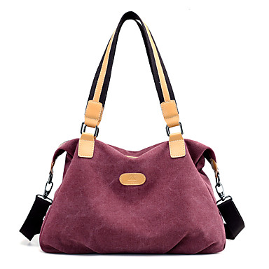 Women Bags Canvas Shoulder Bag for Outdoor Winter All Seasons Blue Gray Purple Coffee