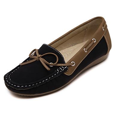 Dame 一脚蹬鞋、懒人鞋 Komfort PU Vår Avslappet Komfort Svart Kamel Under 2,5 cm