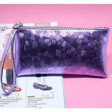 Women Checkbook Wallet PU All Seasons Casual Square Clasp Lock White Purple Deep Blue