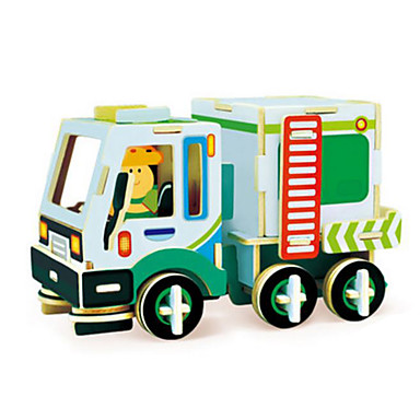 Robotime Toy Car / 3D Puzzle / Jigsaw Puzzle Truck DIY Wooden Classic Construction Truck Set Kid's / Adults' Unisex Gift