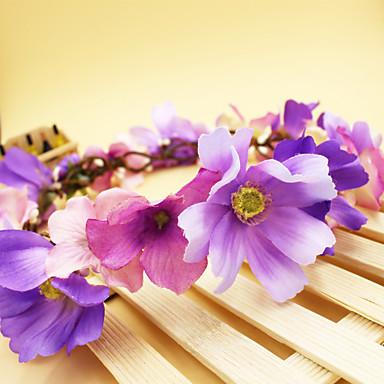 Tecido Tiaras Flores 1 Casamento Ocasião Especial Aniversário Festa / Noite Capacete