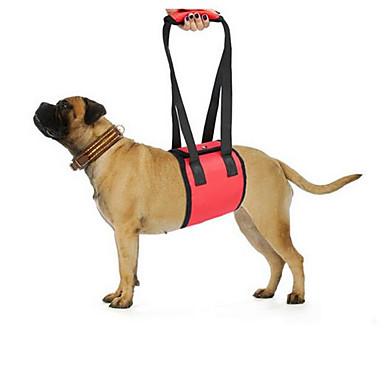 Dog Leash Portable Foldable Adjustable Safety Solid Polyester Black Red