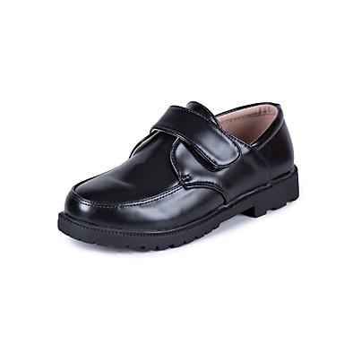 Para Meninos Sapatos Couro Ecológico Primavera Conforto / Mocassim Oxfords Velcro para Preto / Festas & Noite