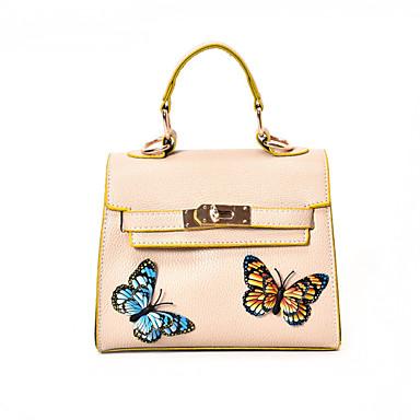 Women Shoulder Bag PU All Seasons Casual Flap Clasp Lock Black Red Blushing Pink