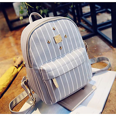 Women Bags All Seasons Canvas Backpack for Casual Black Gray