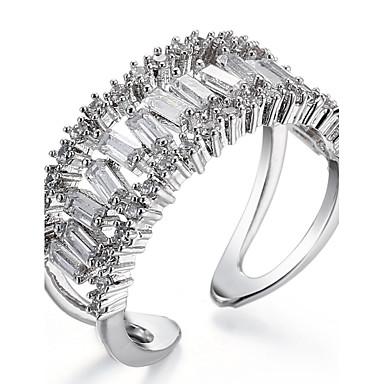 Women's Cuff Ring Ring Band Ring Cubic Zirconia Personalized Luxury Unique Design Classic Basic British USA Movie Jewelry Elegant