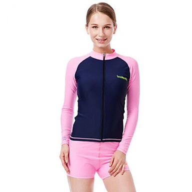 Women's Boating Ultraviolet Resistant Diving Suit Long Sleeve Rash guard Tops Bottoms-Swimming Beach Surfing Sailing WatersportsAll