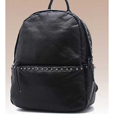 Women Bags All Seasons PVC Backpack with for Casual Black