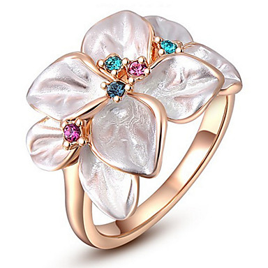 Women's Ring Settings Ring Band Ring Cubic Zirconia Personalized Floral Luxury Unique Design Classic Basic Sexy Friendship British USA