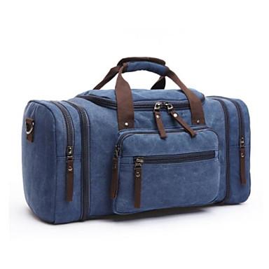 hesapli Çantalar-Erkek Çantalar Tuval Seyahat Çantası için Dış mekan İlkbahar yaz Siyah / Koyu Mavi / Kahve