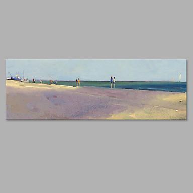 Hang festett olajfestmény Kézzel festett - Landscape Művészi Vászon