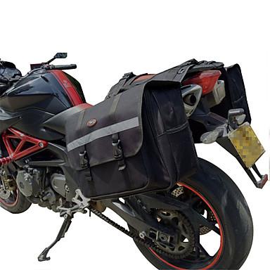 Motorcycle Saddlebag Set 2 Pcs Storage Bag Tool Bag For Honda/Yamaha/Suzuki (Black & Gray Color)