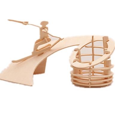 voordelige 3D-puzzels-3D-puzzels Legpuzzel Houten modellen Vliegtuig Beroemd gebouw Meubilair DHZ Puinen Klassiek Kinderen Unisex Speeltjes Geschenk