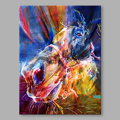 Pintura a Óleo Pintados à mão - Abstrato Moderno / Contemporâneo Tela de pintura