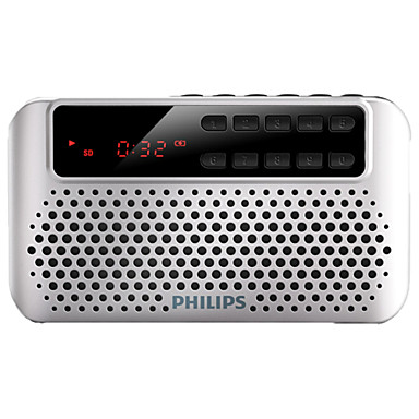 PHILIPS SBM120 FM FM Radio / Built in out Speaker World Receiver Silver / Blue