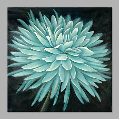 Håndmalte Blomstret/Botanisk Kvadrat, Kunstnerisk Lerret Hang malte oljemaleri Hjem Dekor Et Panel