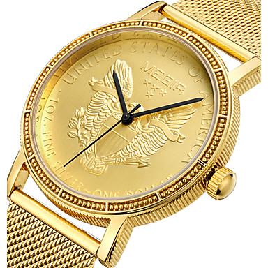 baratos Relógios Homem-Homens Relógio Esportivo Relógio Militar Relógio de Pulso Japanês Quartzo Aço Inoxidável Dourada 30 m Impermeável Criativo Punk Analógico Amuleto Luxo Casual Boêmio Desenho - Dourado
