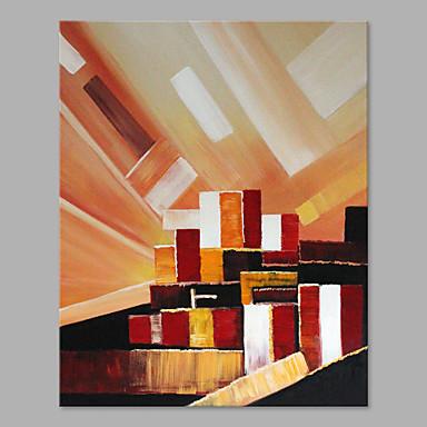 Håndmalte Abstrakt Lodrett, Kunstnerisk Lerret Hang malte oljemaleri Hjem Dekor Et Panel
