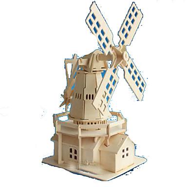 Quebra-Cabeças 3D Quebra-Cabeça Modelos de madeira Brinquedos de Montar Rectângular Castelo Construções Famosas Arquitetura 3D Madeira