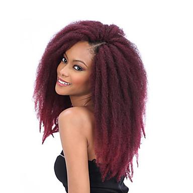 Hår til fletning Afro / Heklet Afro Frekke Fletter / Hairextensions med menneskehår 100% kanekalon hår 3 deler Hårfletter Lang Daglig