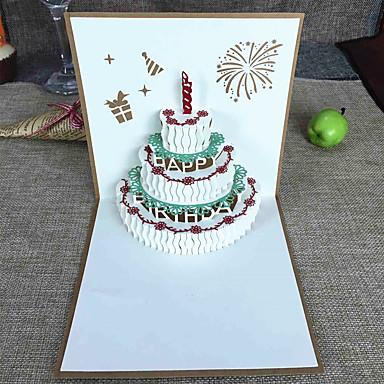 Dobrado no Topo Convites de casamento Cartões de Obrigado / Conjuntos de Convites Estilo Artístico / Estilo vintage / Estilo Floral Papel com Relevo Flor