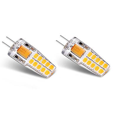 BRELONG® 2pcs 3W 300lm G4 LED Bi-pin Lights T 20 LED Beads SMD 2835 Warm White White 12V