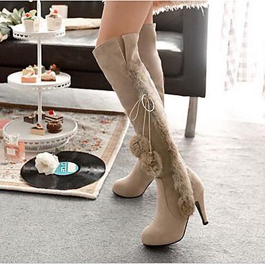 Women's Shoes Fleece Winter Comfort / Snow Boots Boots Black / Beige