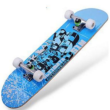 31 Inch komplett Skateboards Lettvekt Maple 608ZZ-Svart Rød Blå Mønster