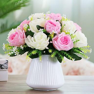 1 haara Polyesteri Pöytäkukka Keinotekoinen Flowers