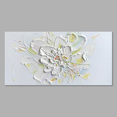 Maalattu Kukkakuvio/Kasvitiede Horizontal,Abstrakti Moderni/nykyaikainen 1 paneeli Kanvas Hang-Painted öljymaalaus For Kodinsisustus