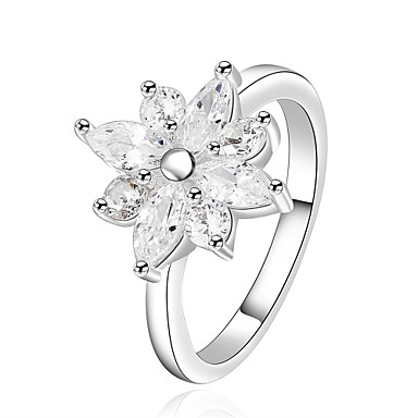 Women's Ring Cubic Zirconia Personalized Floral Geometric Unique Design Flower Style Tassel Classic Vintage Rhinestone Basic Flowers
