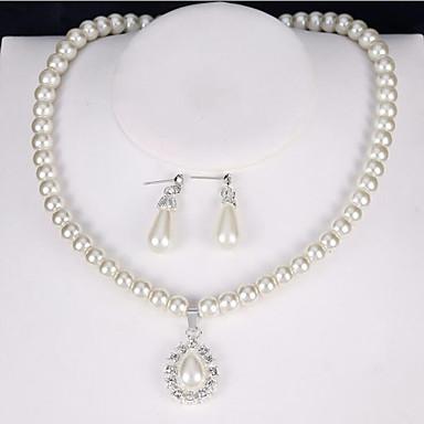 Női Szintetikus gyémánt Ékszer szett - Klasszikus, Vintage, Euramerican tartalmaz Menyasszonyi Ékszerek Fehér Kompatibilitás Parti Party Hétköznapi