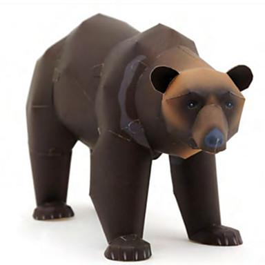 Quebra-Cabeças 3D Maquetes de Papel Artesanato de Papel Brinquedos de Montar Cachorros Urso Animais Faça Você Mesmo Cartão de Papel Duro