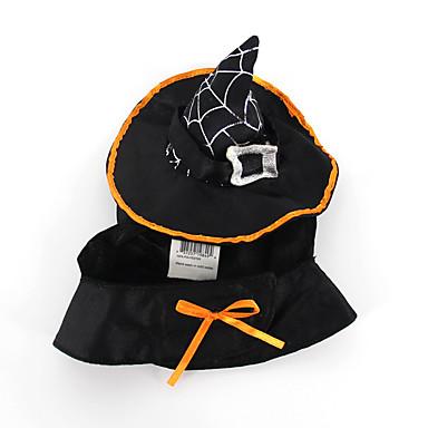 Kat Hund Kostume Hundeklær Ensfarget Svart Dun Terylene Kostume For kjæledyr Halloween