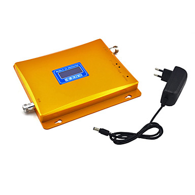 3G 2100mhz Cell Phone Signal Booster W-CDMA Signal Repeater UMTS Amplifier with Power Supply LCD Display / Golden