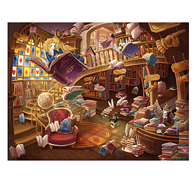 Jigsaw Puzzle Castle Famous buildings House Architecture Cartoon Wooden Wood Unisex Gift