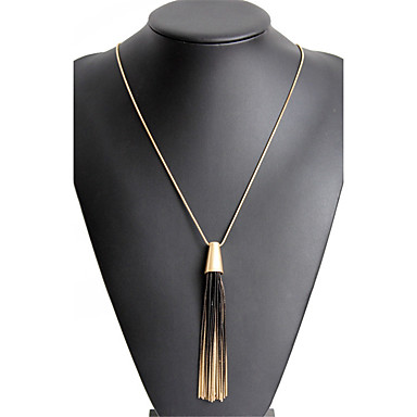 Women's Tassel / Long Pendant Necklace - Statement, Dangling Style, Tassel Gold Necklace For Christmas Gifts, Party, Graduation
