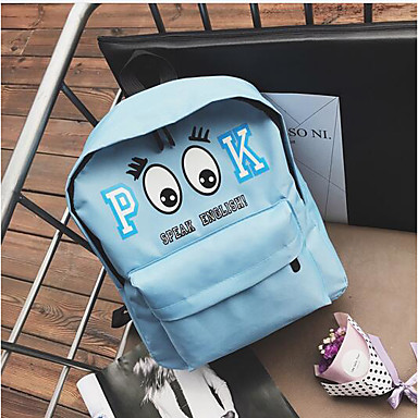 Women's Bags PU Backpack for Casual All Seasons Blue Black