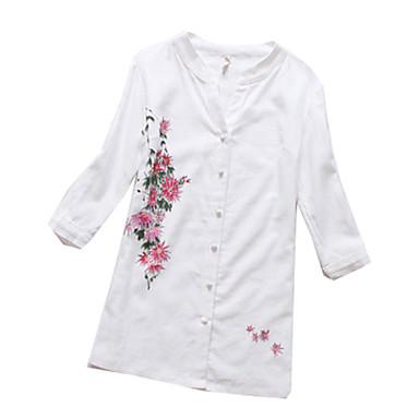 Bluse/Skjorte Klassisk og Tradisjonell Lolita Lolita Cosplay Lolita-kjoler Trykt mønster Kortermet Genser Til Bomullsstoff