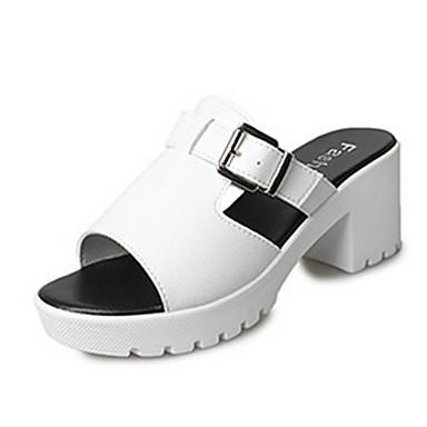 Mulheres Sapatos Couro Ecológico Primavera Verão Fashion Gladiador Sandálias Salto Robusto Dedo Aberto Presilha para Diário Para Noite