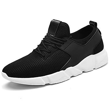 Miesten kengät Tyll Kevät Syksy Comfort Urheilukengät Kävely Solmittavat varten Kausaliteetti Musta Harmaa Punainen