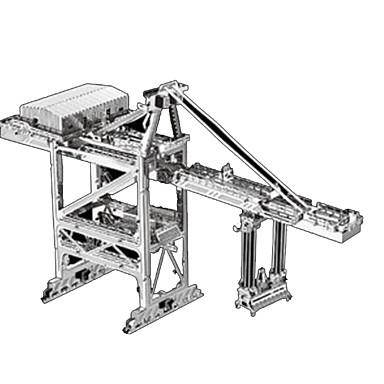 Lekebiler 3D-puslespill Metallpuslespill Truck Entreprenørmaskiner Bulldoser Leketøy Trailer Arkitektur 3D GDS Chrome Metall Uspesifisert