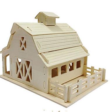 Quebra-Cabeças 3D Quebra-Cabeça Brinquedos de Montar Construções Famosas Arquitetura 3D Faça Você Mesmo Madeira Natural Clássico Unisexo