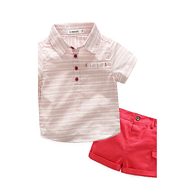 Baby Children's Birthday Party / Evening Sport Outdoor Casual/Daily Going out Holiday Stripe Clothing Set, Cotton Summer Stripes Short
