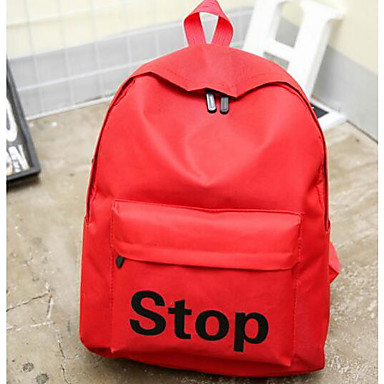 Women's Bags Canvas Backpack for Casual All Seasons Blue Red Blushing Pink